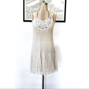 WAREHOUSE embellished collar dress